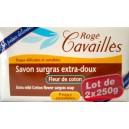 Rogé Cavaillès savon surgras extra-doux/fleur de coton. lot de 2*250g.