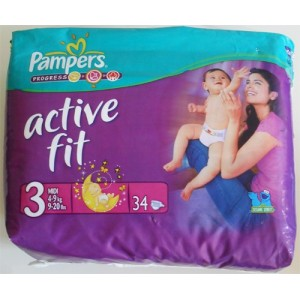 PAMPERS active fit 4 à 9 kg